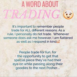 'Do you trade'? .........